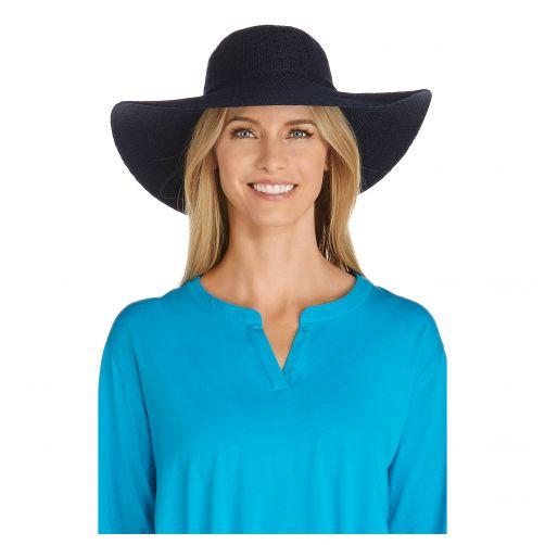 Coolibar---UV-Sonnenhut-für-Damen---Marineblau