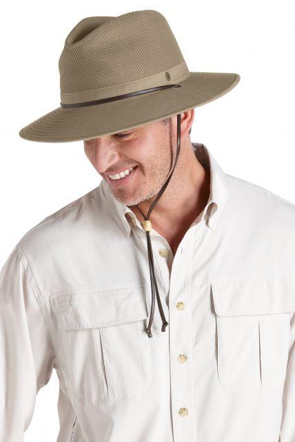 Coolibar---Quetschbarer,-atmungsaktiver-UV-Hut-für-Herren---Kaden---Khaki