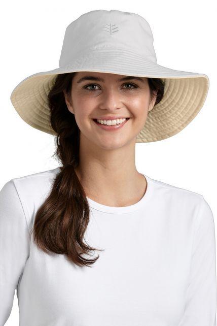 Coolibar---UV-Schutz-Damenhut---Weiß