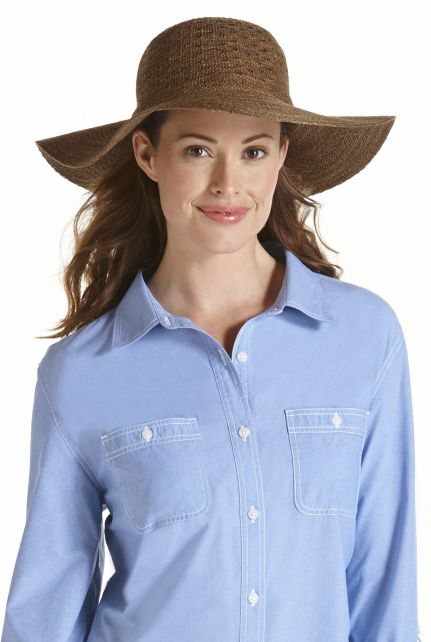 Coolibar--UV-Sonnenhut-für-Damen--Braun