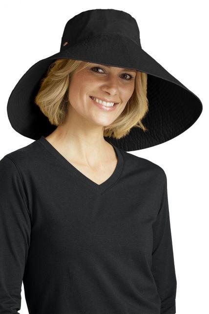 Coolibar---UV-Schlapphut-für-Damen---Schwarz