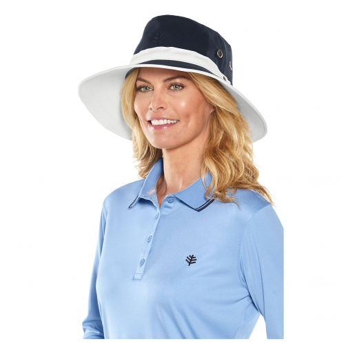 Coolibar---UV-Hut-für-Herren---Wendebar---Dunkelblau/Weiß