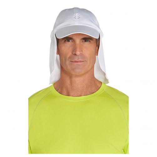 Coolibar---UV-Kappe-mit-Nacken--und-Ohrenschutz---Weiß