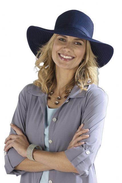 Coolibar---UV-Schutz-Sonnenhut-für-Damen---Blau