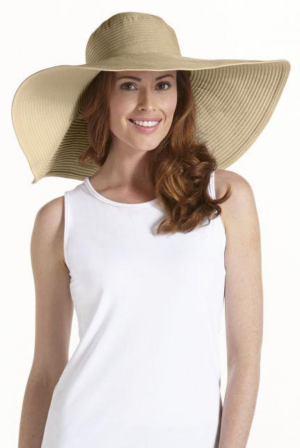 Coolibar---XL-UV-Schlapphut-für-Damen---Tan