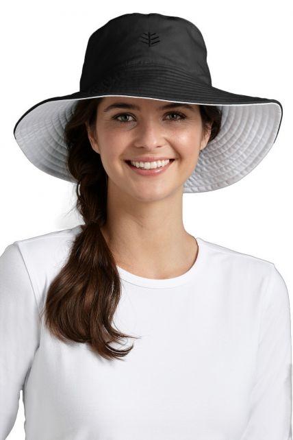 Coolibar---UV-Schutz-Damenhut---Schwarz