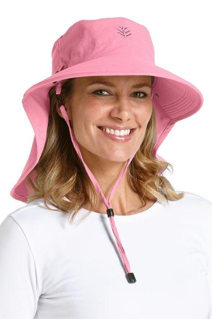 Coolibar---UPF50+-Ultra-Sun-Hut-für-Damen--Pink