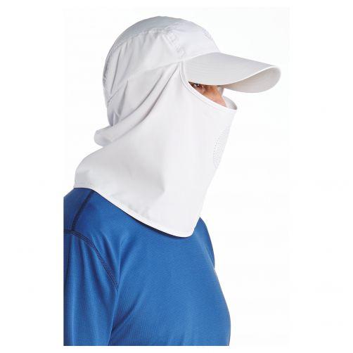Coolibar---UV-Sonnenkappe-mit-Hals--und-Gesichtsbedeckung--Weiß
