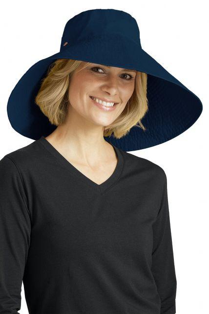 Coolibar---UV-Schlapphut-für-Damen---Blau