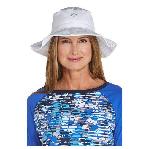 Coolibar---UV-Anglerhut-für-Damen---Weiß