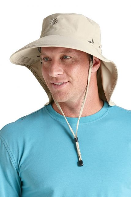 Coolibar---UPF50+-Ultra-Sun-Hut-für-Herren---Grau