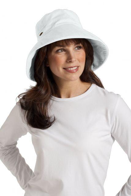 Coolibar---UV-Hut-Damen---Weiß