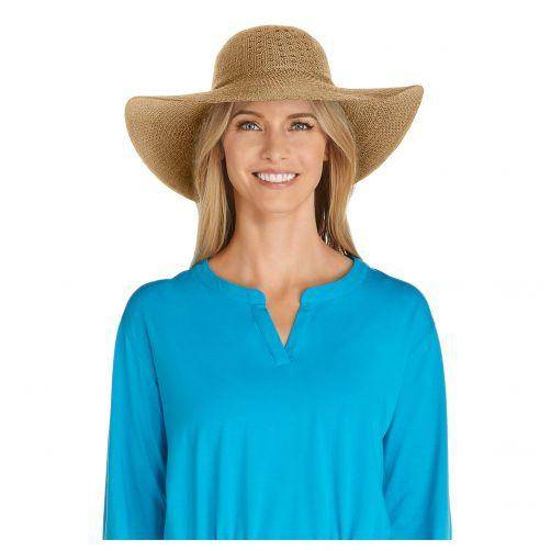 Coolibar---UV-Sonnenhut-für-Damen---Hellbraun