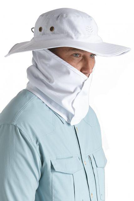 Coolibar---UV-Schutz-Hut-für-Herren---Weiß