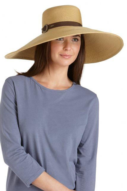 Coolibar---SmartStraw-Hut-Monaco-für-Damen---Beige