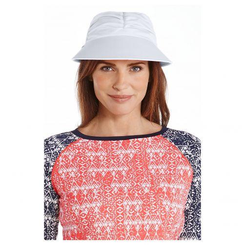 Coolibar---UV-Sonnenkappe-für-Damen---Weiß