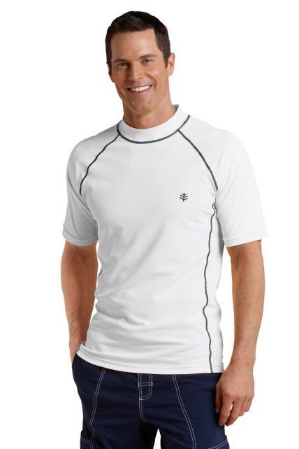 Coolibar---UV-Schutz-T-Shirt-Herren---Weiß