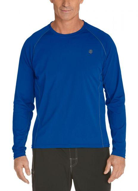 Coolibar---UV-Schutz-Langarm-Shirt-Herren---blau