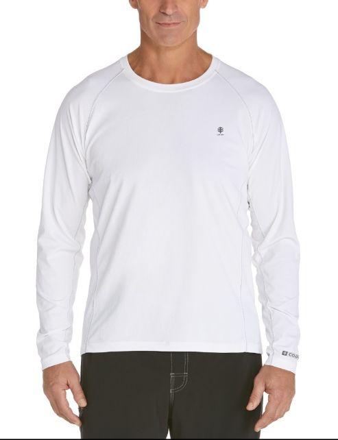 Coolibar---UV-Schutz-Langarm-Shirt-Herren---weiss