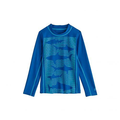 Coolibar---UV-Badeshirt-für-Kinder---Haifischdruck