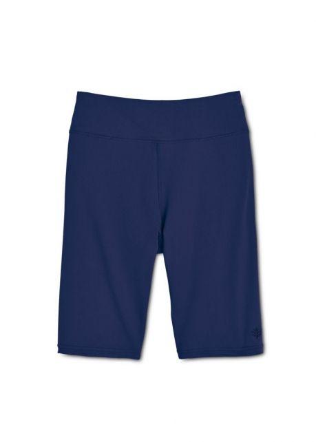 Coolibar---UV-Schwimm-/-Sport-Leggings-kurz-Damen---dunkelblau