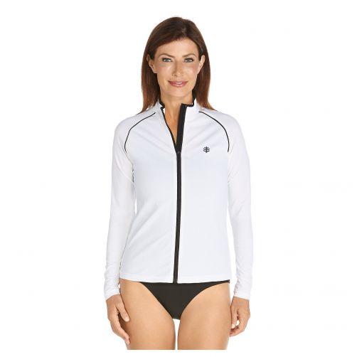 Coolibar---UV-Schwimmjacke-für-Damen---Weiß