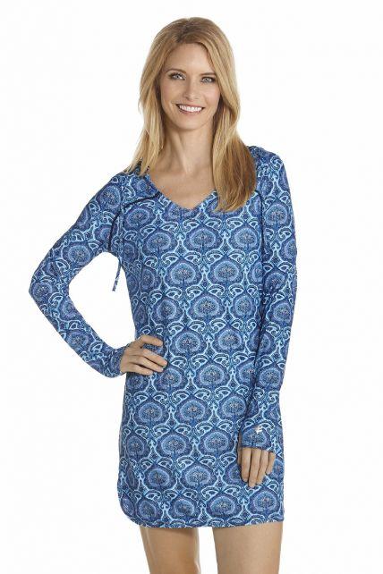 Coolibar---UV-Strandkleid-Damen---Blau