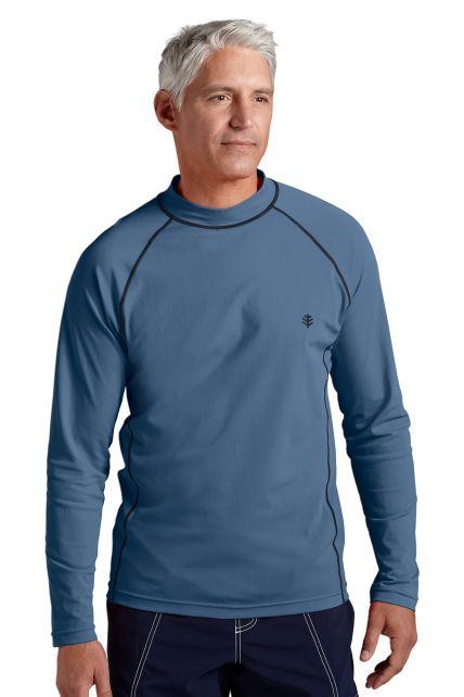 Coolibar---UV-Schutz-Langarm-Shirt-Herren---Stahlgrau