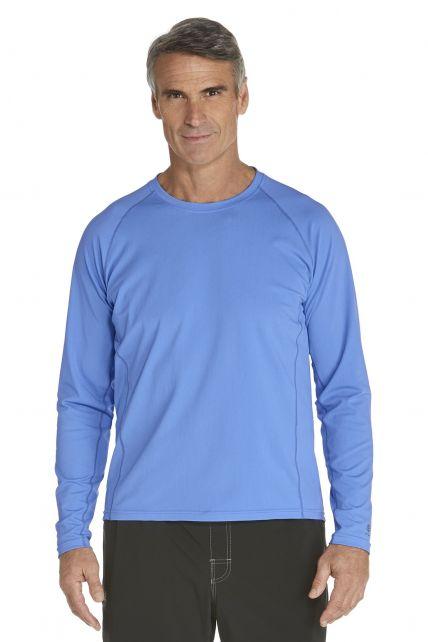 Coolibar---UV-Schutz-Langarm-Shirt-Herren---leuchtend-blau