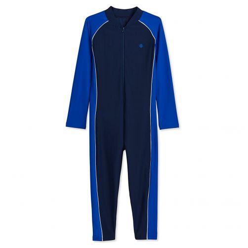 Coolibar---UV-Schwimmanzug-für-Kinder---Marineblau---Lang