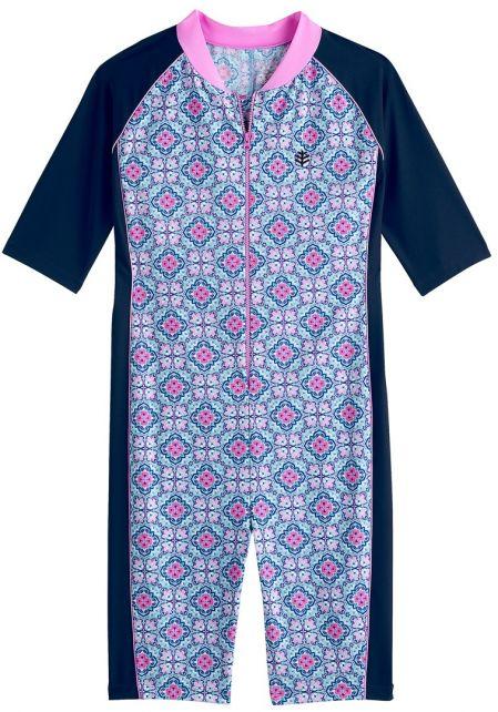 Coolibar---UV-Schwimmanzug-für-Mädchen---Spanish-Mosaïque---Multi