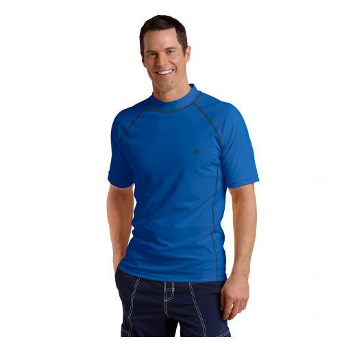 Coolibar---UV-Badeshirt-für-Herren---Marineblau