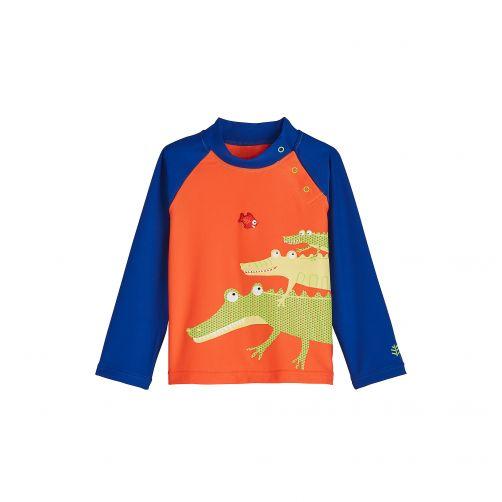 Coolibar---UV-Badeshirt-für-Babys---Krokodilfamilie