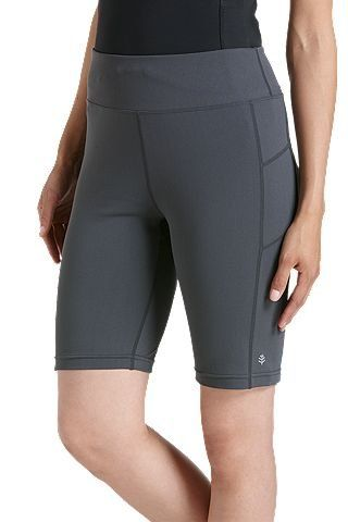 Coolibar---UV-Schwimm-/-Sport-Leggings-kurz-Damen---grau