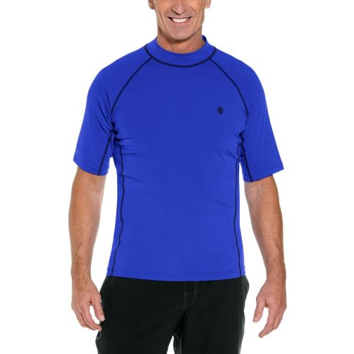 Coolibar---UV-Badeshirt-für-Herren---Tulum-Rash-Guard---Kobaltblau