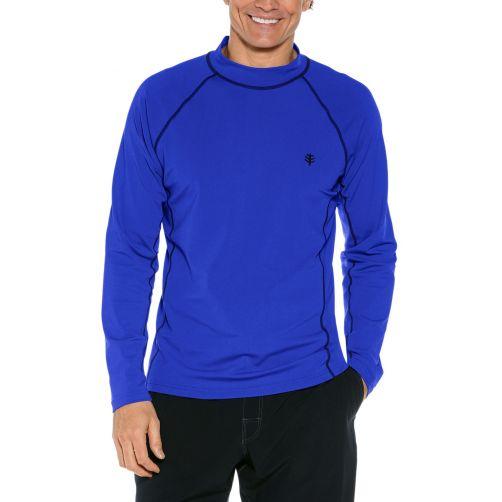 Coolibar---UV-Badeshirt-für-Herren---Langarm---Kobalt-Blau