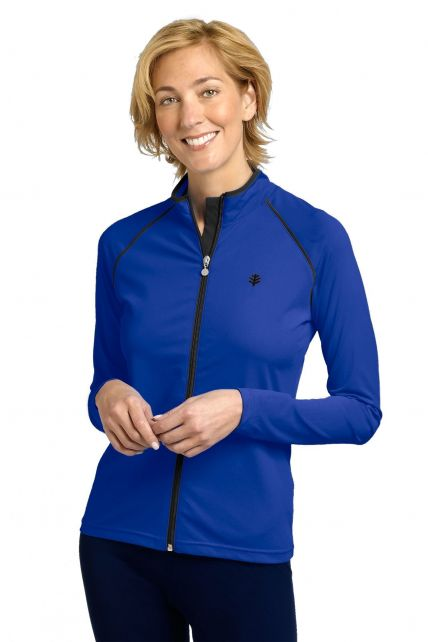 Coolibar---UV-Jacke/Schwimmjacke-Damen---blau