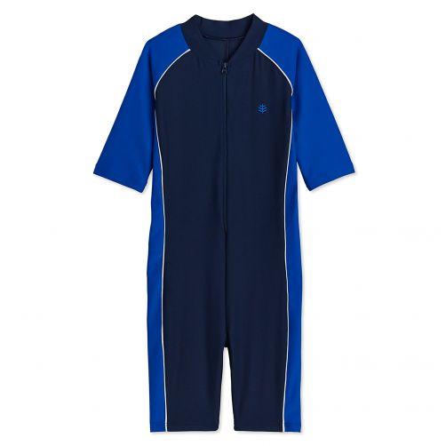 Coolibar---UV-Schwimmanzug-für-Kinder---Blau