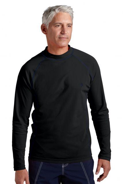 Coolibar---UV-Schutz-Langarm-Shirt-Herren---schwarz