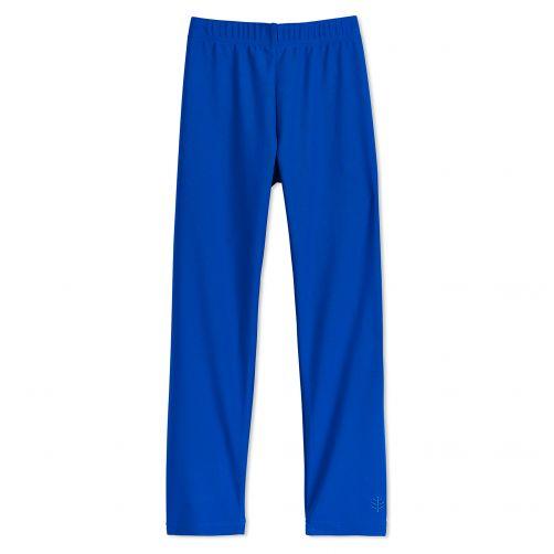 Coolibar---UV-Schwimmleggings-für-Kinder---Meeresblau