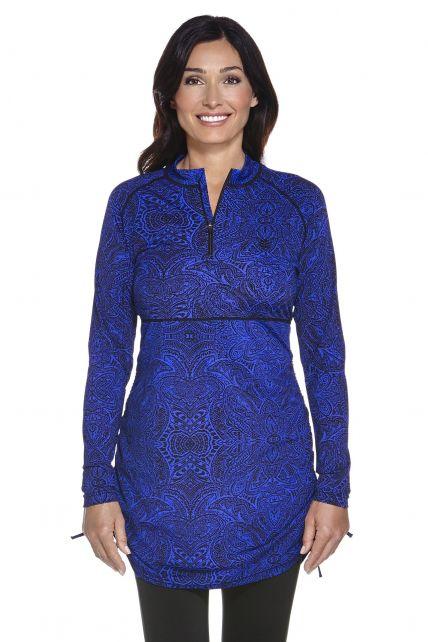 Coolibar---UV-Tunika-/-Langarm-Top-Damen---Blau-Motiv