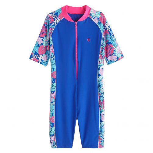 Coolibar---UV-Schwimmanzug-für-Kinder---Marineblau