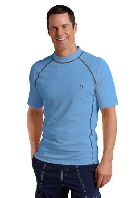 Coolibar---UV-Schutz-T-Shirt-Herren---Surf-blau