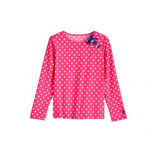 Coolibar---UV-shirt---Pink-/-Weiß-gepunktet