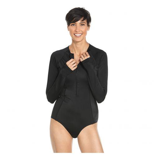 Coolibar---UV-Langarm-Badeanzug-für-Frauen---Escalante---Schwarz