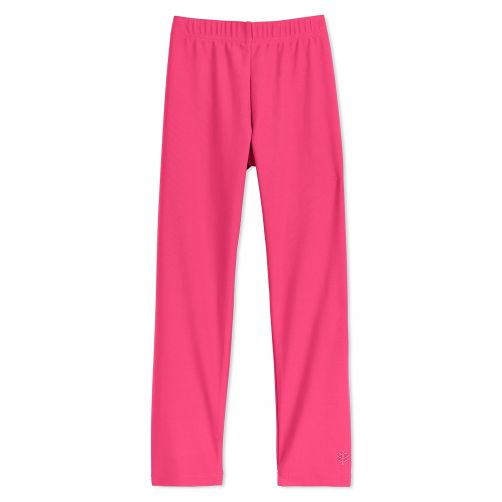 Coolibar---UV-Schwimmleggings-für-Kinder---Pink