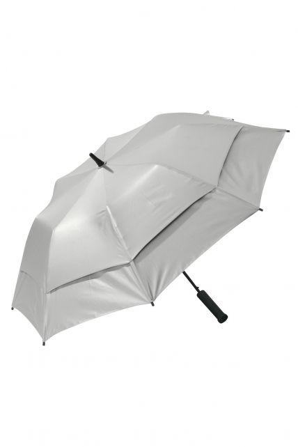 Coolibar---UV-schützender-Regenschirm---Tournament-Golf---Silber