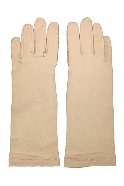 Coolibar---UV-schützende-Handschuhe---Beige