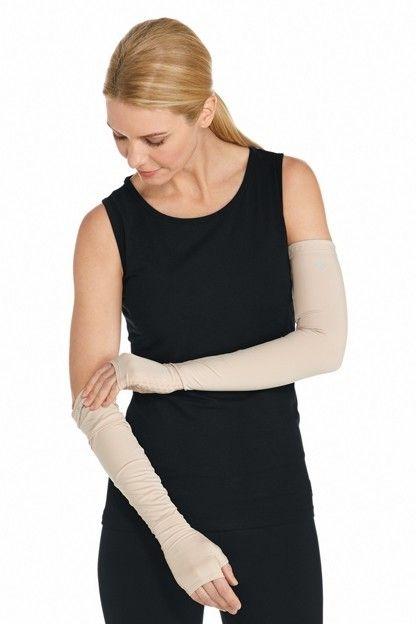Coolibar---UV-schützende-Ärmel-für-Erwachsene---Foraker---Beige