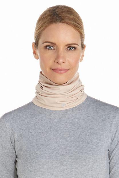 Coolibar---UV-schützender-Kragen-für-Hals-und-Gesicht---Beige